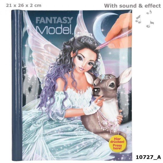 Fantasy Model Colouring Book W ith LED & Sound ICEPRINCESS