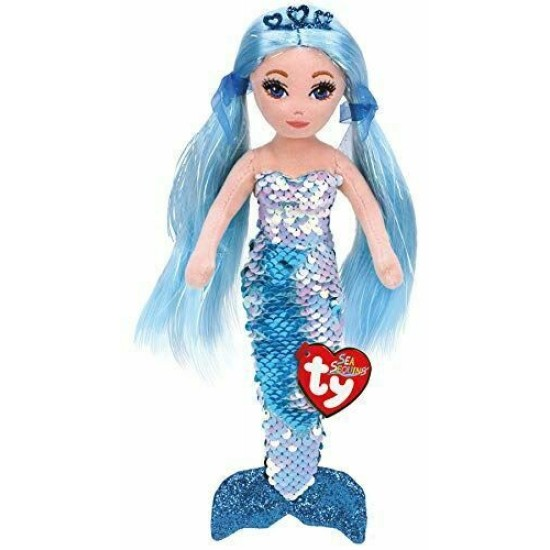 02102 Sea Sequins Plush Mermaid - INDIGO