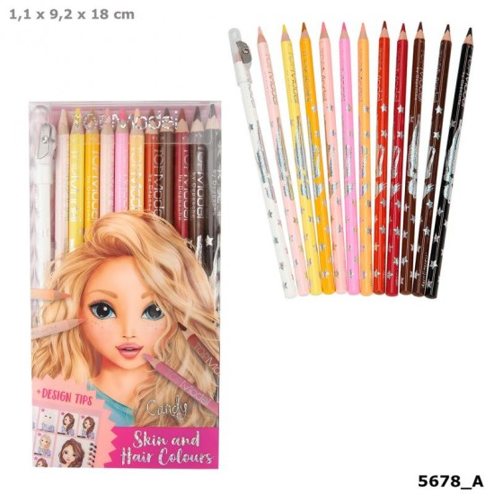 Top Model Coloured Pencil Set (Skin And Hair Colours)