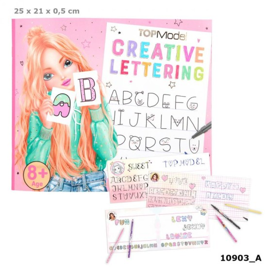 TOPModel Creative Lettering Co louring Book